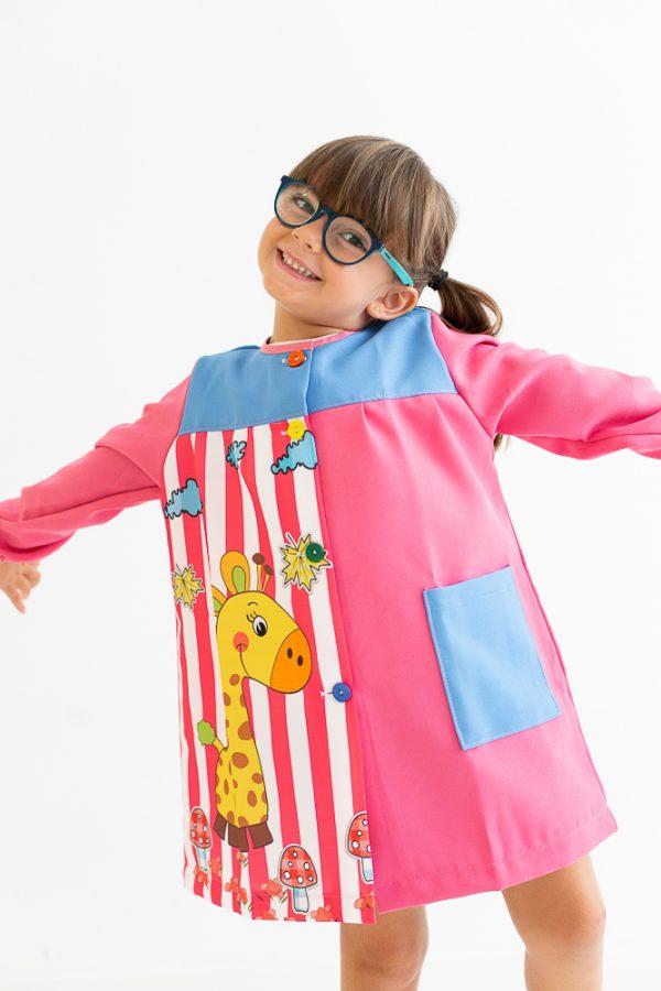 babi-escolar-divertido-melman-manga-larga-rosa