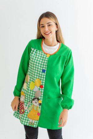 bata-de-maestra-manga-larga-la-cariñosa-verde