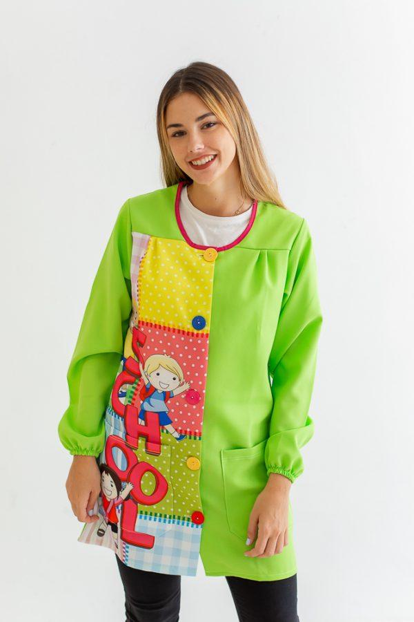 bata-maestra-manga-larga-school-verde