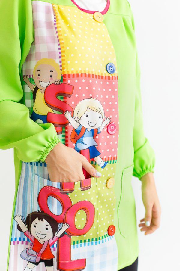 bata-maestra-manga-larga-school-verde-bolsillos-grandes