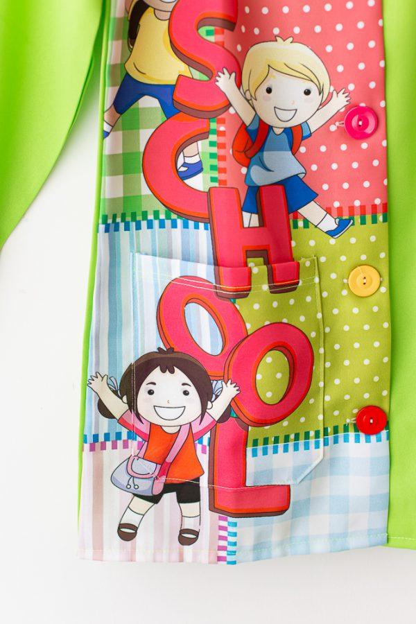 bata-maestra-manga-larga-school-verde-inglés