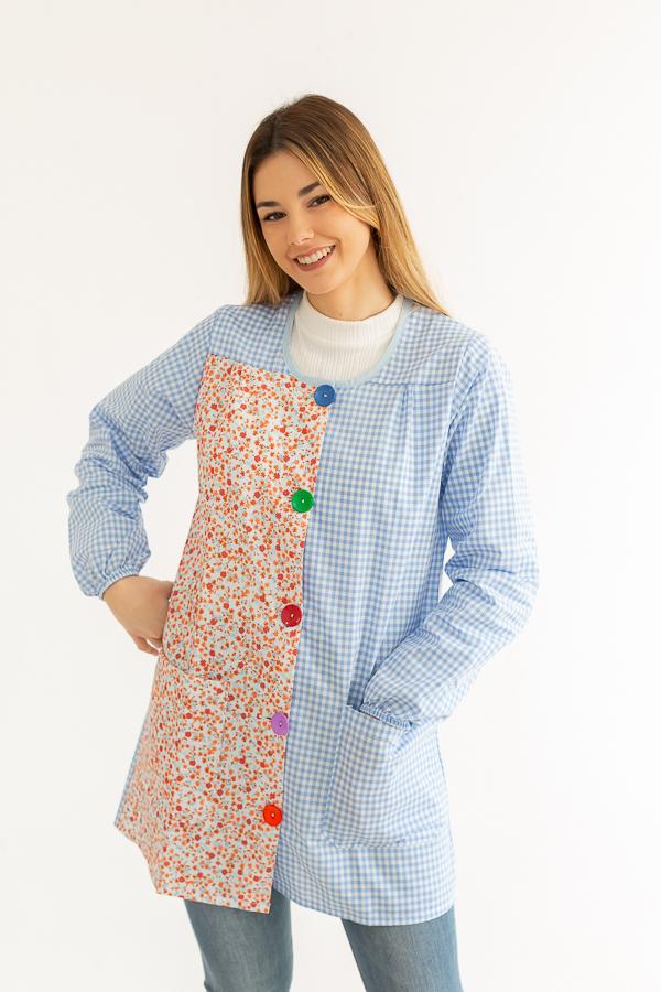 bata maestra bloom vichy azul