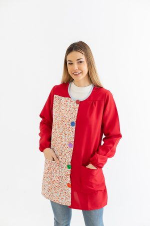 bata-de-maestra-manga-larga-bloom-rojo