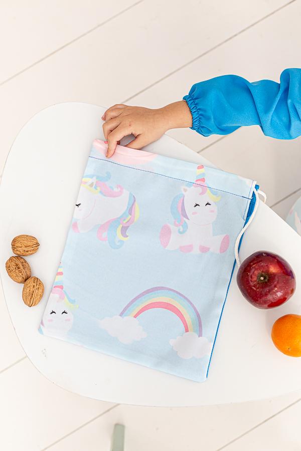 bolsa de tela para almuerzos unicorn