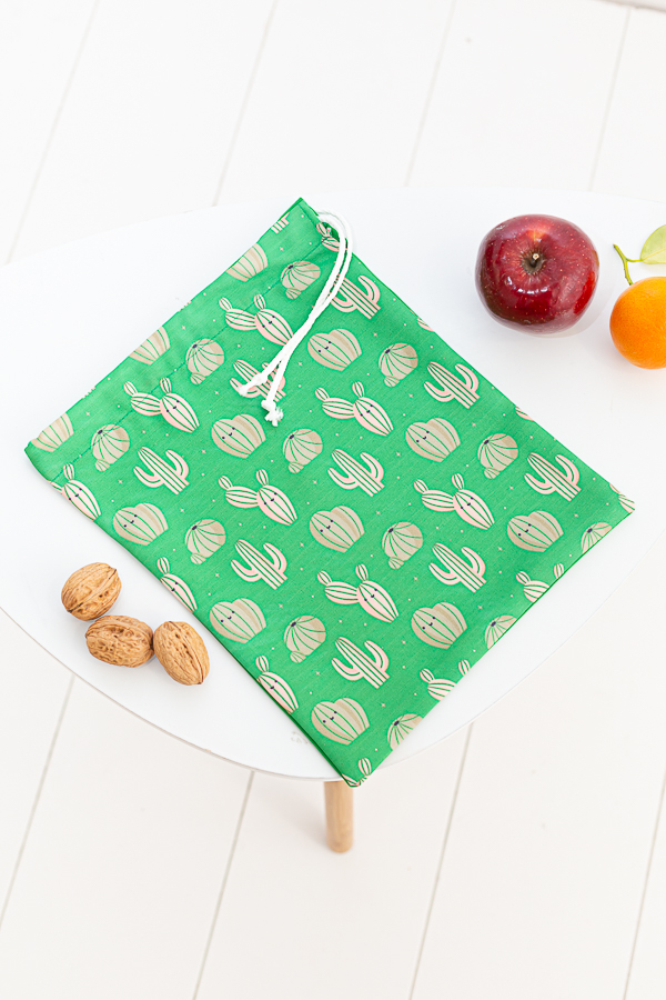bolsa de tela para almuerzos verde desert